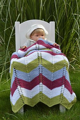 Manta chevrones lana Woolly